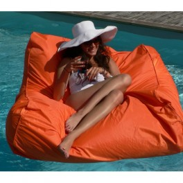 Fauteuil- Pouf Flottant- orange - compactable - Sitinpool
