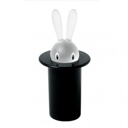 Porte cure-dents Magic Bunny-noir - A di Alessi