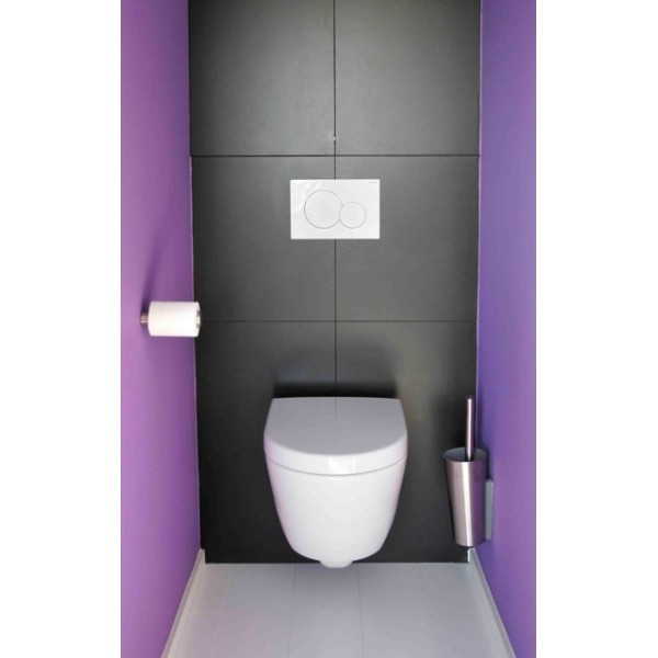 Porte papier toilette design en inox eva solo for Photos de toilettes design