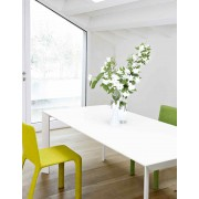 Table blanche Nori Pure white - fixe ou extensible - Kristalia
