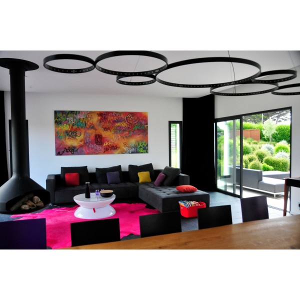 Table basse lumineuse lounge multicolor led - Table basse multicolore ...