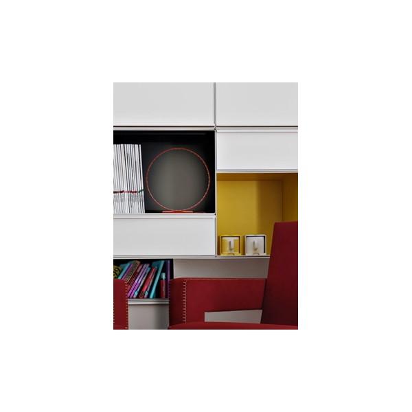 lampe micro rouge led de 30 cm de le deun luminaires. Black Bedroom Furniture Sets. Home Design Ideas