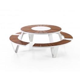 Table & bancs Pantagruel - blanche - Extremis