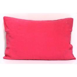 Taie d'oreiller Queens en lin Rose Fluo - 50x70cm - Bed and Philosophy