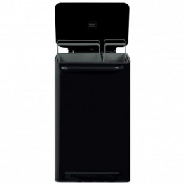 Poubelle à pédale Mobil / 65 L - 2 bacs - Noir - Perigot