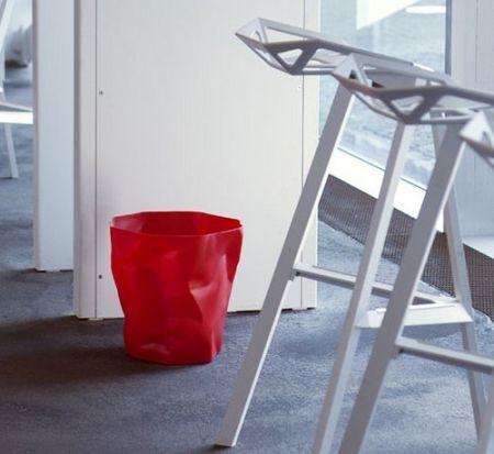 Corbeille Bin Bin H 31 x Ø 33 cm - rouge - Essey