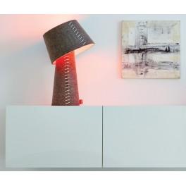 Lampe de table Alice à Led - feutre gris- Moree
