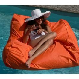 Fauteuil- Pouf Flottant- orange - compactable - Sitinpool