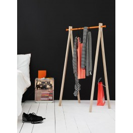 Portant Bois Dress Up Avec Barre Aluminium Coloré Nomess - Portant en bois