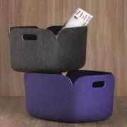 Panier de rangement Restore en feutre 100% recyclé - violet - Muuto