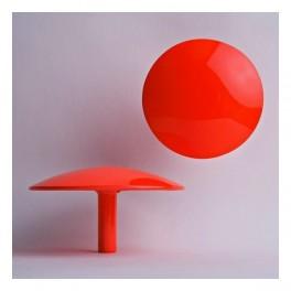 Patère Manto rouge fluo Ø 10 cm - Sentou Edition
