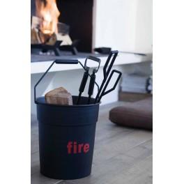 Seau et accessoires cheminée Fire Tools - Eno studio
