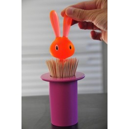 Porte cure-dents Magic Bunny-rose - A di Alessi