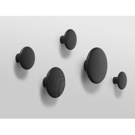 Patère The Dots - set de 5 - noir - Muuto
