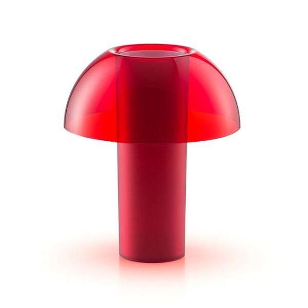 lampe de table colette en polycarbonate rouge s de pedrali. Black Bedroom Furniture Sets. Home Design Ideas