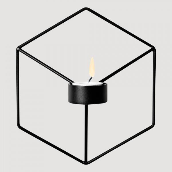 bougeoir chandelier mural pov en acier poxy noir de menu. Black Bedroom Furniture Sets. Home Design Ideas