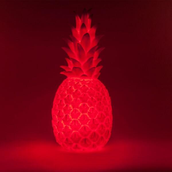 lampe ananas rouge fluo led de goodnight light. Black Bedroom Furniture Sets. Home Design Ideas