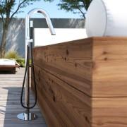 Mitigeur colonne sur pied en inox pour baignoire - Twiggy CS40 V Mix Extra - Fontealta