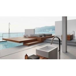 Mitigeur colonne sur pied en inox pour baignoire - Twiggy CS40 V Mix  - Fontealta