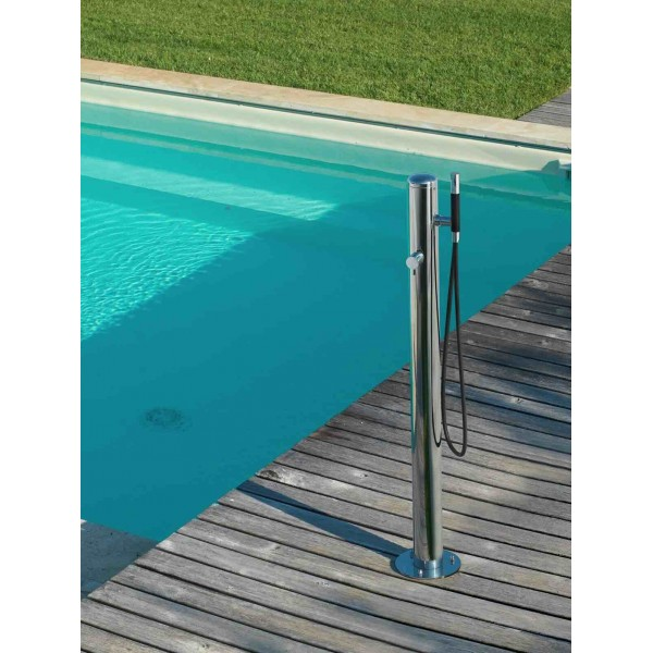 Colonne de douche en inox pour jardin col90 de fontealta - Colonne de douche exterieur ...