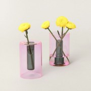 Vase reversible rose - H 10 cm - Block Design