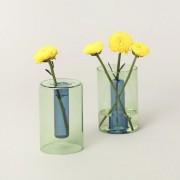Vase reversible vert - H 10 cm - Block Design