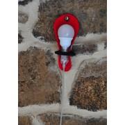 Baladeuse Josette en feutre Rouge / Anthracite - Metylos