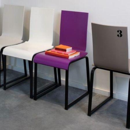 Chaise avec numéro- Manu-00 - Manganèse Edition