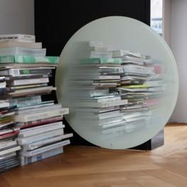 Miroir rond Fading blanc Ø 55 cm - Eno Studio