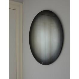 Miroir rond Fading noir Ø 55 cm - Eno Studio