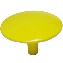 Patère Manto jaune fluo Ø 10 cm - Sentou Edition