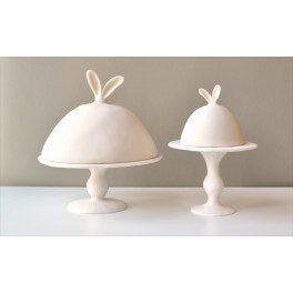 Plat à gâteau sur pied avec cloche - Tina Frey Designs