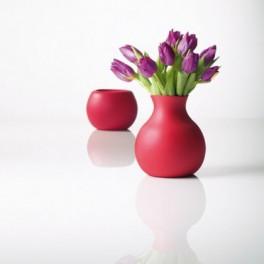 Vase souple en caoutchouc - rouge - H 20 cm - Menu