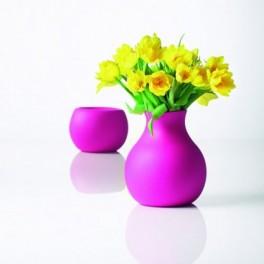 Vase souple - rose - H 20 cm - Menu