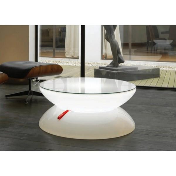 table basse ronde design lumineuse lounge led pro de moree. Black Bedroom Furniture Sets. Home Design Ideas