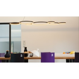 Suspension Ultra8 / LED - 180 x 50 cm - Noir - Le Deun