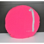 Coussin rond en lin Shining Rose Fluo 65 cm- Bed and philosophy